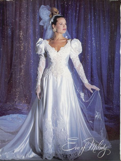 I love Eve of Milady gowns! Feb/Mar Brides 1986   Vintage