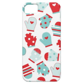 Cute Mittens Winter Design iPhone 5 Case
