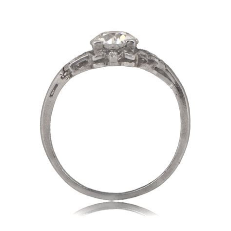 0.98ct Hobart Engagement Ring   Estate Diamond Jewelry