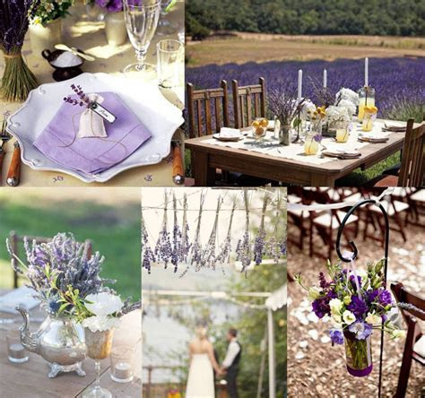 Mood board : lavender wedding decoration ? Weddings on the