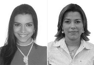 Wanessa Mattos (esq) e Pink fracassaram na eleição. (Foto: Divulgação/TSE)