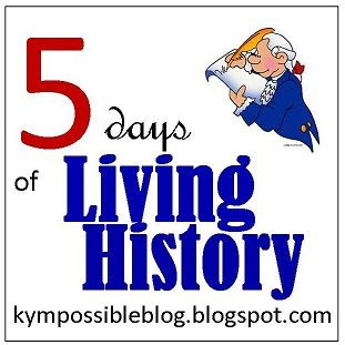 5 Days of Living History at Homeschool Coffee Break @ kympossibleblog.blogspot.com