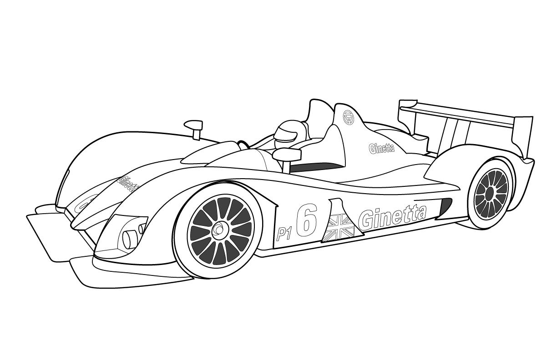Dessin Un beau dessin de voiture de course  colorier