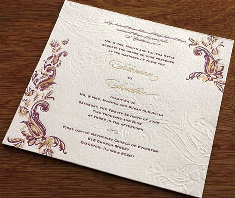 Hindu Wedding Invitation Card Designs Indian Themes, Hindu