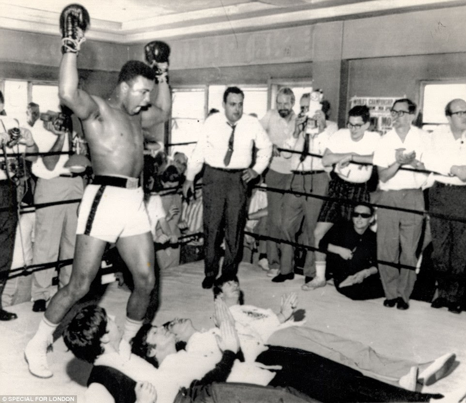 The Fab Four were brave enough to get in the ring with Ali but luckily for the musicians there were no smash hits