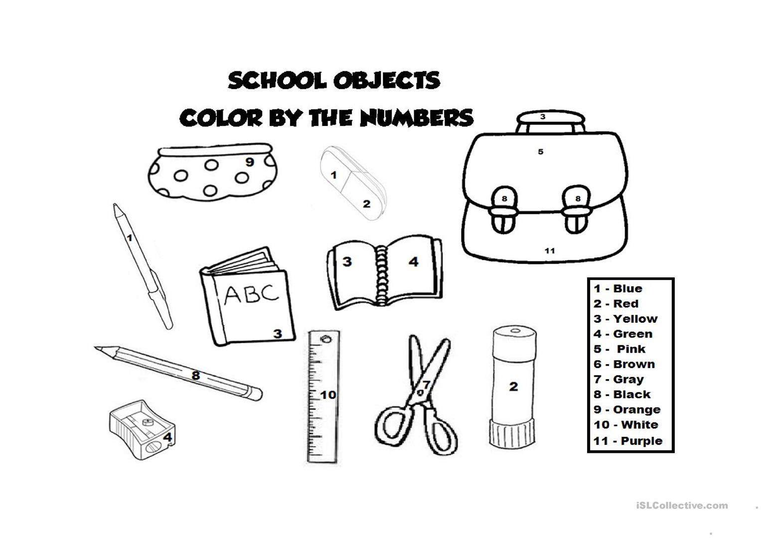 7700 Top Coloring Sheets School Objects Download Free Images