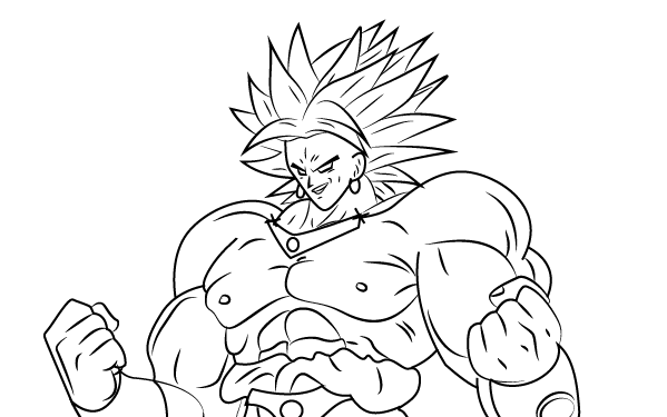 Dragon Ball Super Broly Drawing Easy