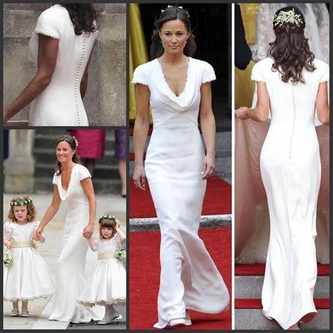 Vintage Affordable Pippa Middleton Bridesmaid Dress Cheap