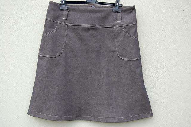 Denim Skirt Front