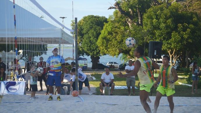 Futevôlei de Verão em Santarém (Foto: Gustavo Campos/GloboEsporte.com)