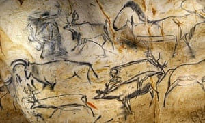 Animal figures from Chauvet Cave