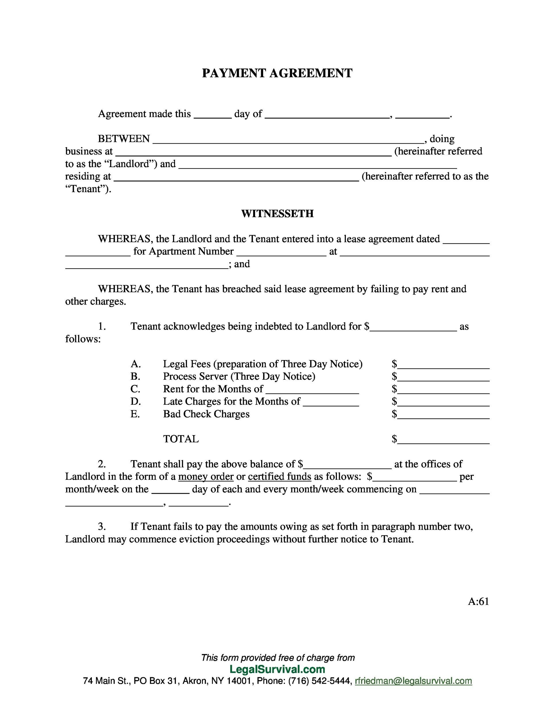 Payment Agreement  40 Templates \u0026 Contracts  Template Lab
