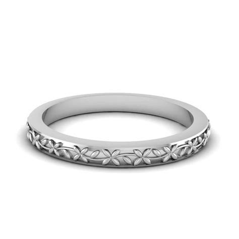 2019 Latest Thick White Gold Wedding Bands