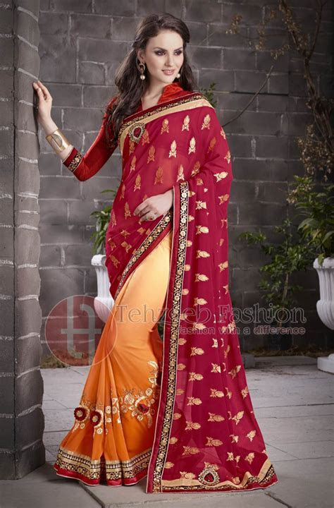 Indian & Pakistani Party Wear Saree Collection   Stylo Planet