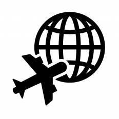 海外旅行シルエット イラストの無料ダウンロードサイトシルエットac