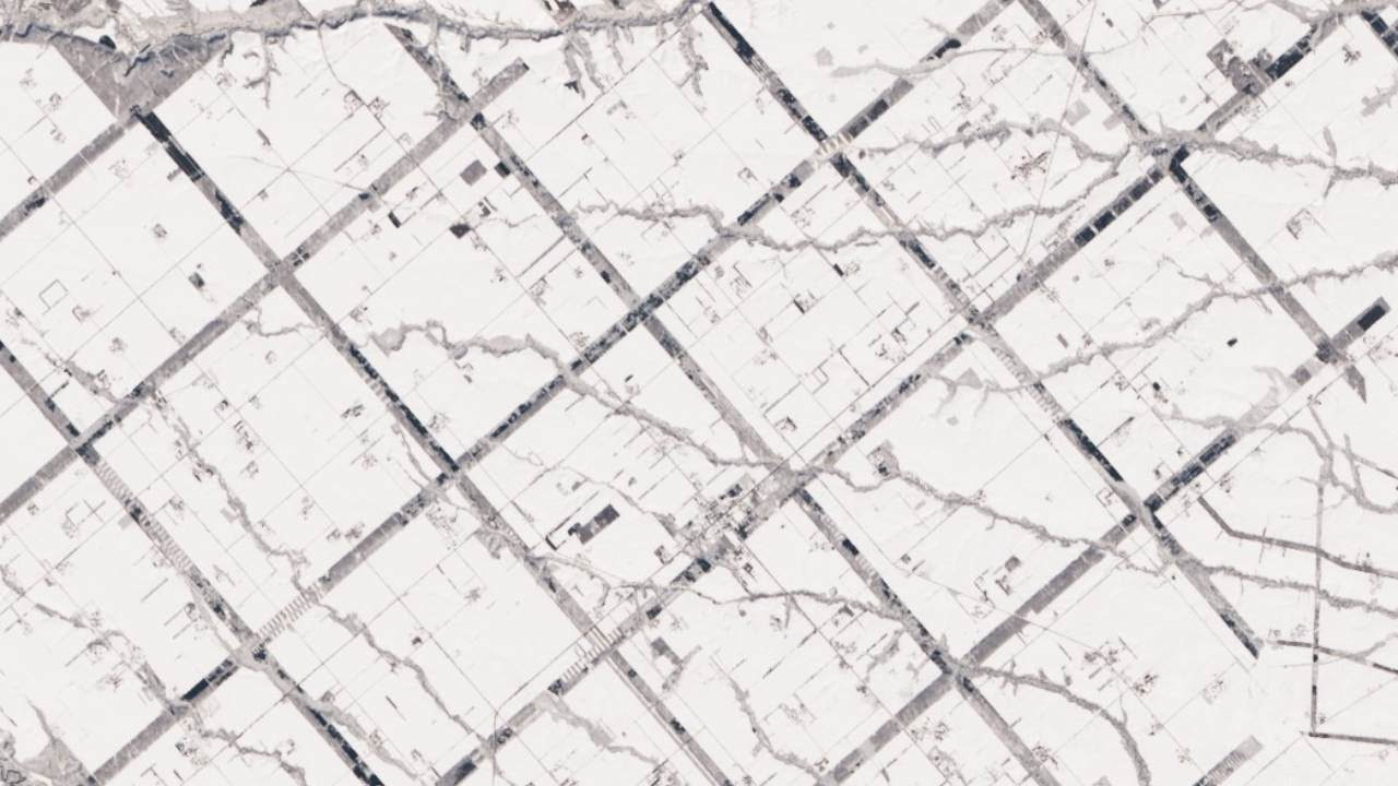 A Windbreak Grid in Hokkaido Credits: NASA Earth Observatory images by Lauren Dauphin