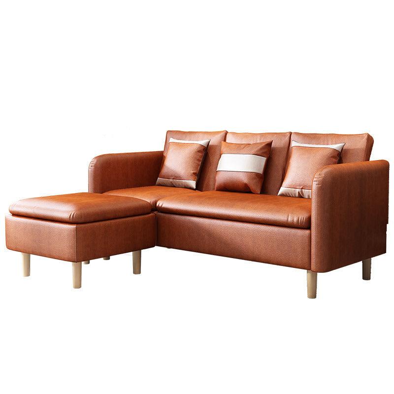 Sofa Kulit Apartemen Kecil Sofa Multi Fungsi Kaki Modern Sofa Minimalis Ruang Tamu Ocistok Com