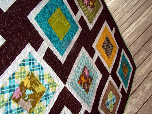 Chocolate Sanctuary baby quilt