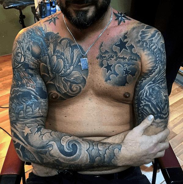 Tatuagens para homens mangas