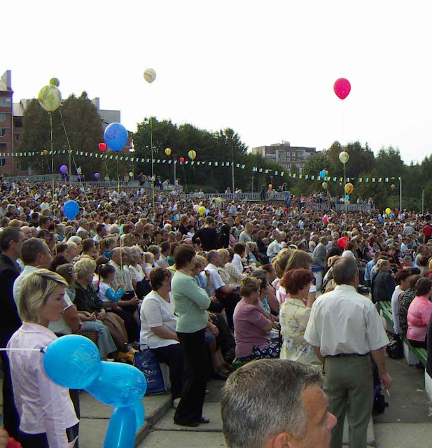 A celebration of 465 years of Ternopil city, West Ukraine