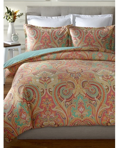 Echo Guinevere Duvet Mini Set Coralmint King Modern Classics