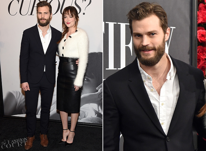 Jamie Dornan in Neil Barrett | 'Fifty Shades of Grey' Fan First NYC Screening