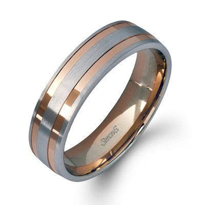 Simon G. 14K White and Rose Gold Two Tone Men's Wedding