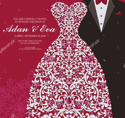 Printable Wedding Cards   Free & Premium Templates