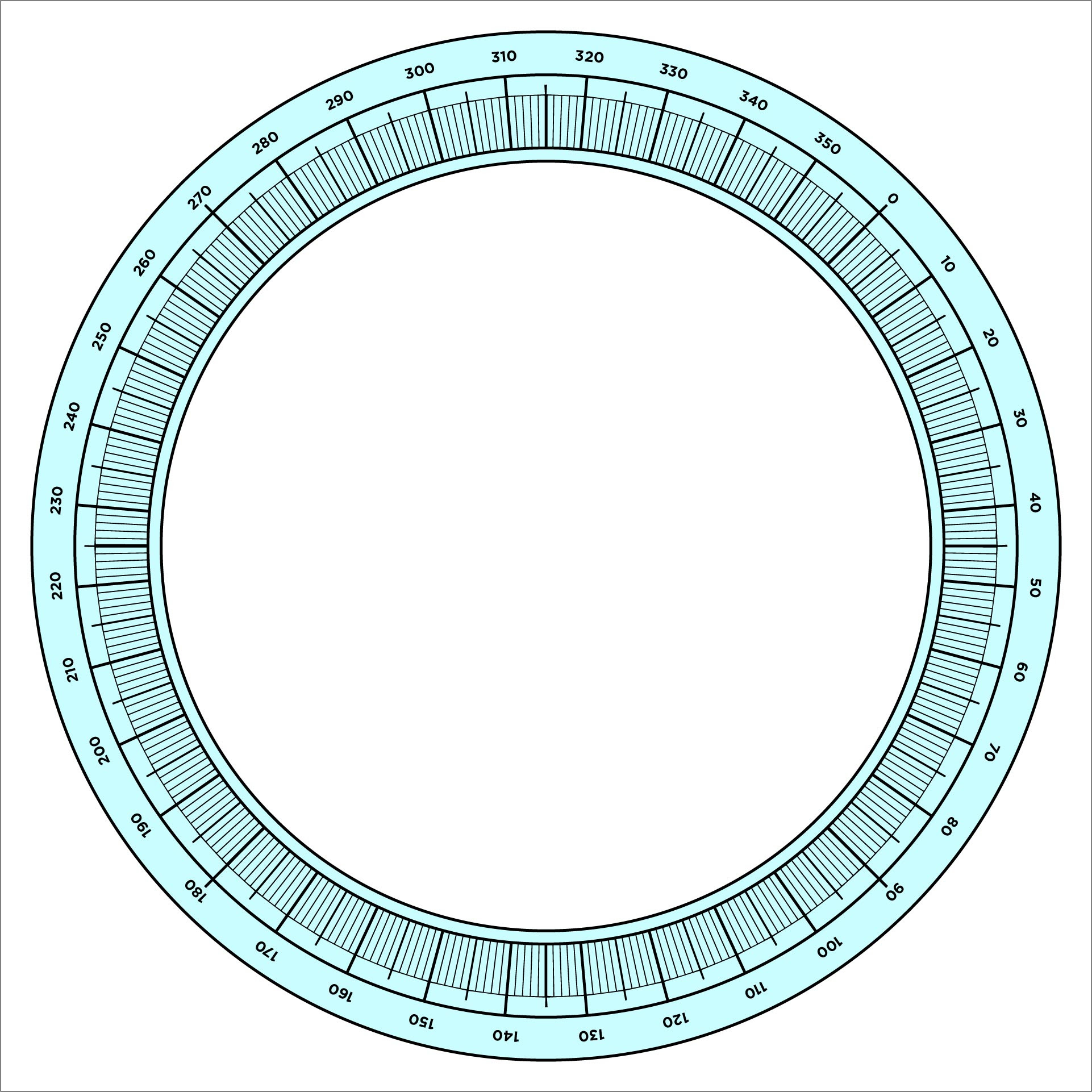 printable protractor 360 template clipart best. how to construct ...