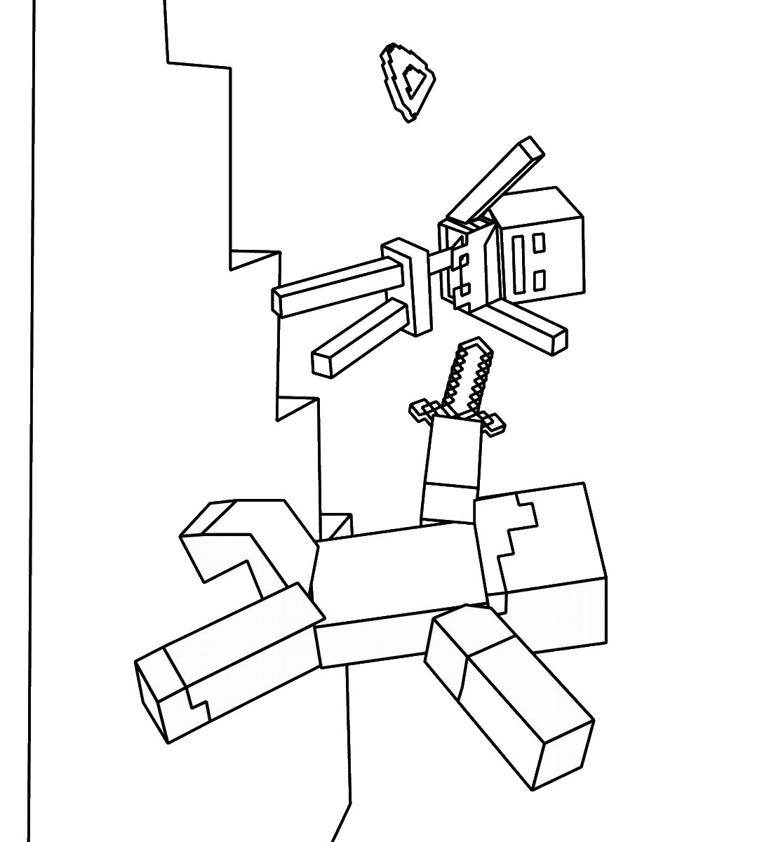 Minecraft Coloring Pages | Birthday Printable