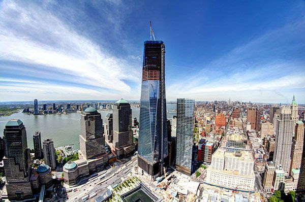 Now the tallest building in NYC, the 1 WTC towers above the city's skyline on April 30, 2012.