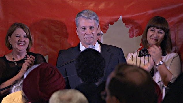 Andrew Leslie, candidat libéral vainqueur dans Orléans. (19-10-15)