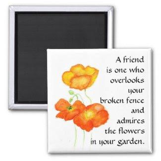 Poppies Magnet - Friendship magnet