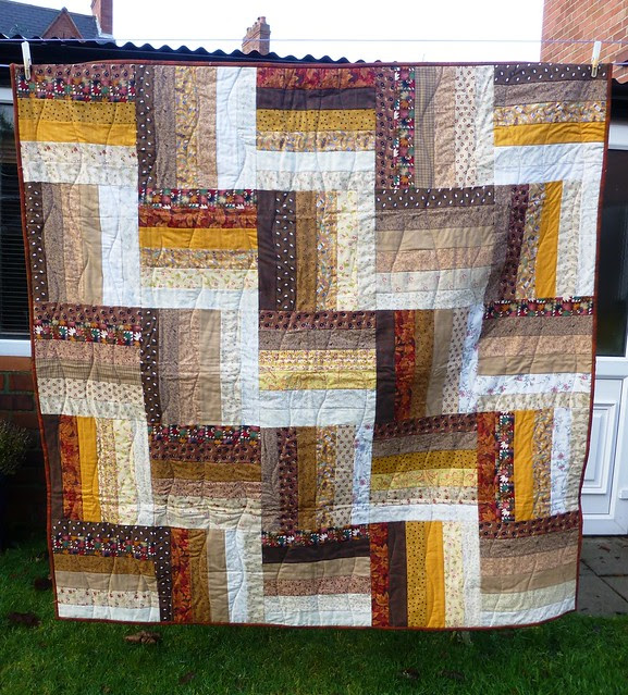 Bee Blessed Rail Fence Quilt Dec12