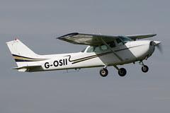 G-OSII - 1976 build Cessna 172N Skyhawk, departing from Runway 09L at Barton