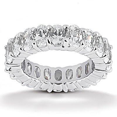 Oval cut diamond eternity wedding band 95 Cts Diamonds