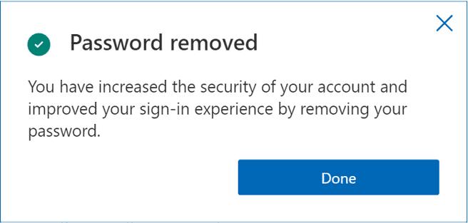 Microsoft-accounts hoeven geen gekoppeld wachtwoord meer te hebben