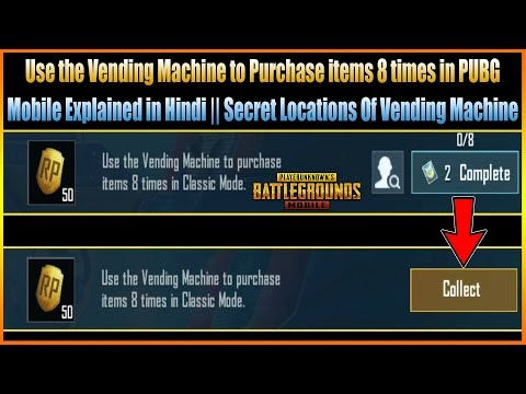 Use the Vending Machine to Purchase items 8 times in Classic Mode (PUBG ...