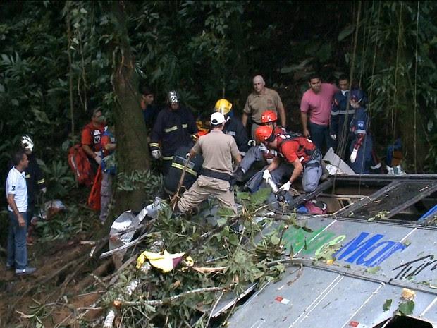 Acidente de ônibus em Santa Catarina deixa ao menos 20 mortos/GNews (Foto: Reprodução GloboNews)