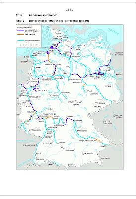 Verzeichnis der dem allgemeinen verkehr. Landkartenblog Bundeswasserstrassen In Deutschland Die Schiffsautobahnen Bis 2015