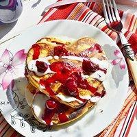 Lawendowe pancakes
