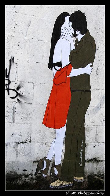 Amoureux par Claire Streetart