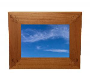 Wood Picture Frame Eagles Exacta Designs Engraving