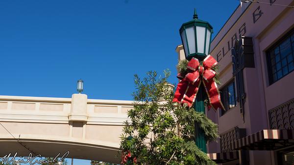 Disneyland Resort, Disney California Adventure, Buena Vista Street, Christmas, Time