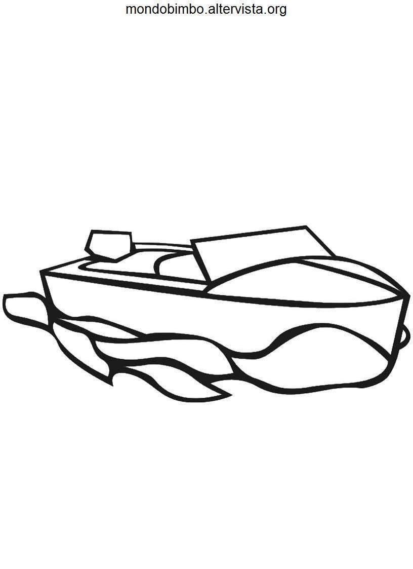 Disegni Di Barche Da Colorare Mondo Bimbo
