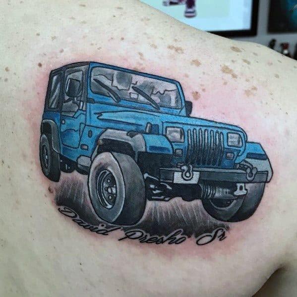 Tatuagens Mens Jeep