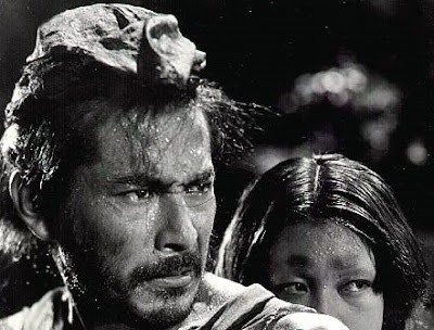Mifune and Machiko Kyo in Rashomon