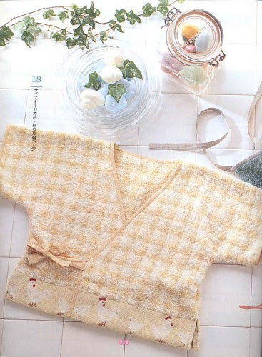 Baby shirt from a towel