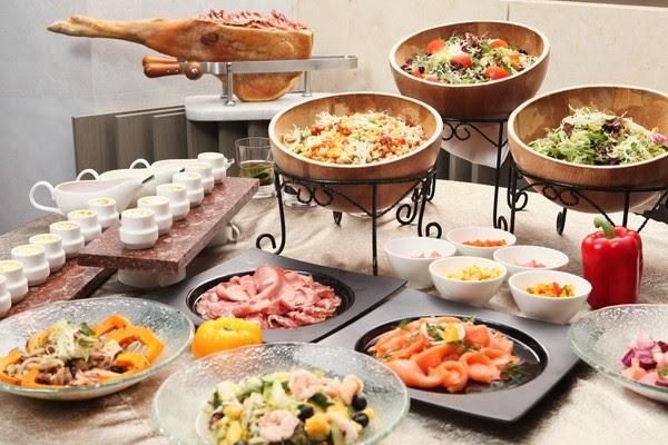 how to arrange appetizer buffet table ideas