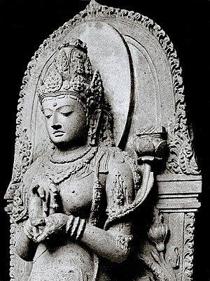 The statue of Prajñ p ramit  the Goddess of tr...